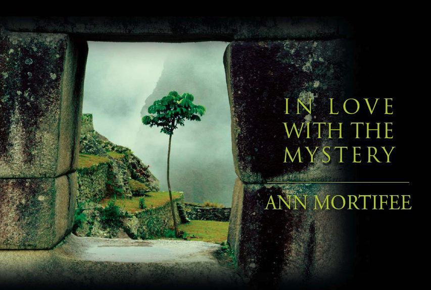 The front cover of Ann Mortifee's book, In Love with the Mystery - photograph by Courtney Milne.