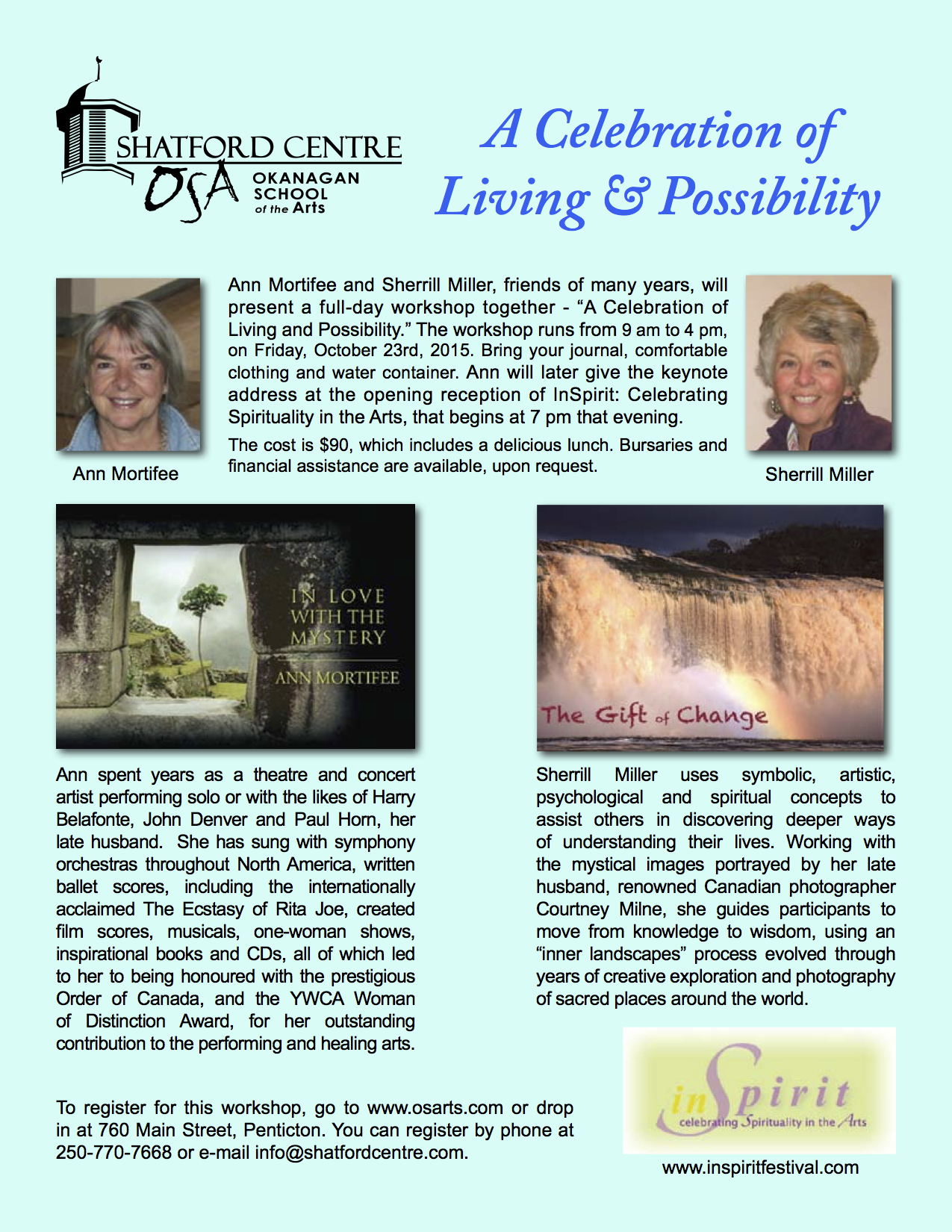 Celebration of Living Possibility Poster