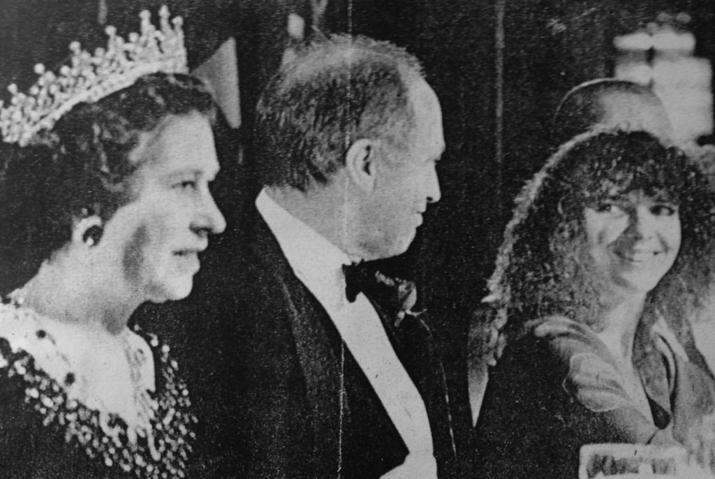 Ann Mortifee with Pierre Trudeau and Queen Elizabeth II