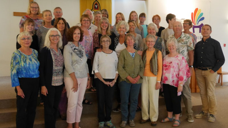 Ann with the participants of an Everyone Can Sing Workshop, September 2016