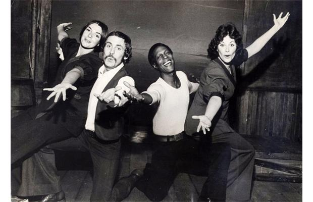 1968  Ann Mortifee with Pat Rose, Leon Bibb and Ruth Nichol in Jacques Brel is Alive and Well and Living in Paris, Arts Club Theatre, Vancouver